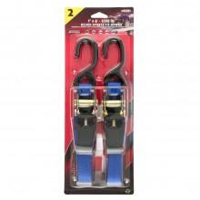 """Erickson Deluxe Sports Tie-Down Straps - 1"""" x 6' - 1200 LBS"""