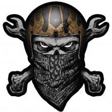 Lethal Threat Black Bandana Skull Patch